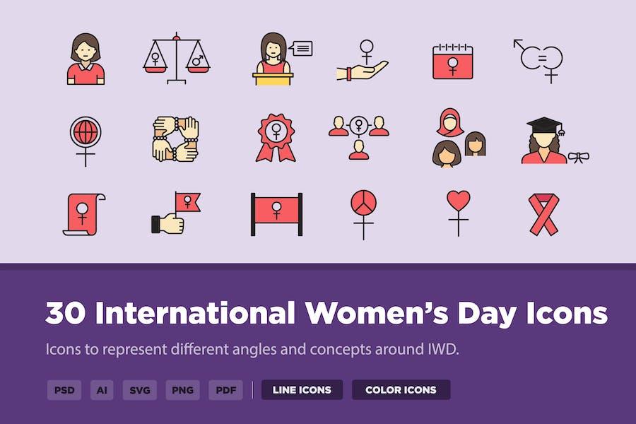 30 International Women's Day Icons
