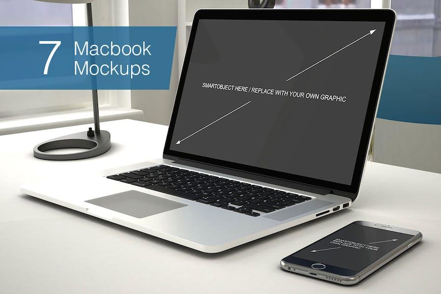 Laptop Mockup - 7 Poses