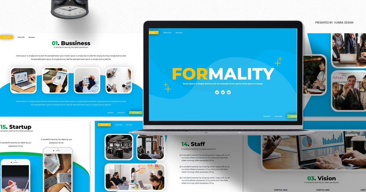 Download Formality | Google Slides Template by Vunira