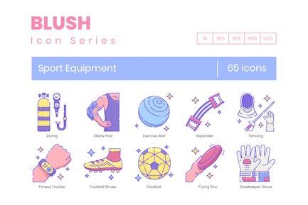65 Sport Equipment Line Icons