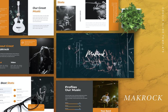 Thumbnail for MAKROCK - Music Google Slides Template