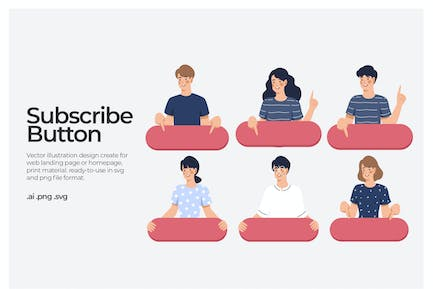 Subscribe Button - Illustration