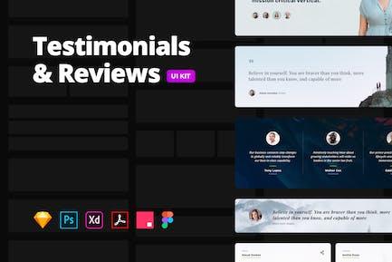 Testimonials & Reviews – Multi-format UI Kit