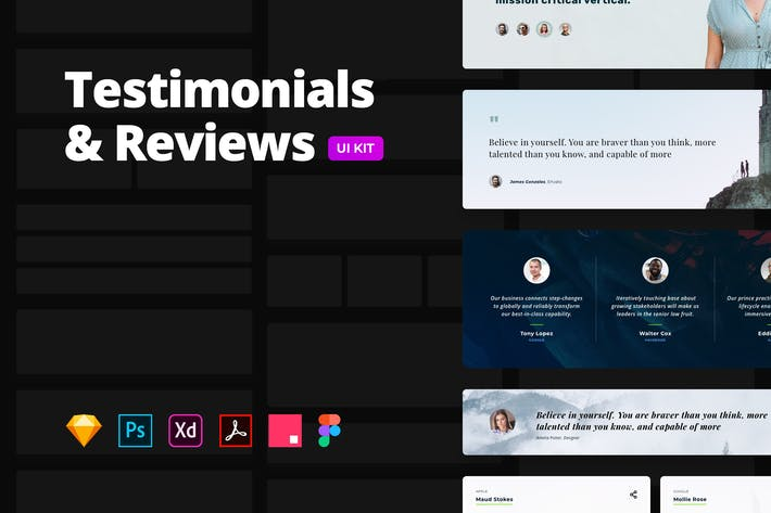 Thumbnail for Testimonials & Reviews – Multi-format UI Kit