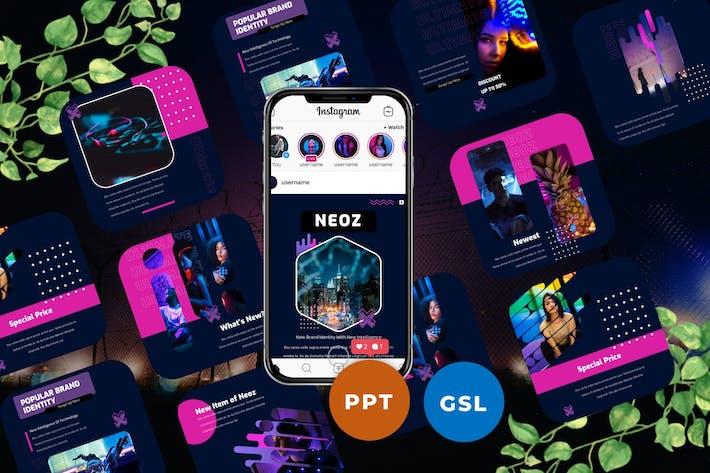 Thumbnail for Neoz - Шаблоны сообщений и историй Instagram