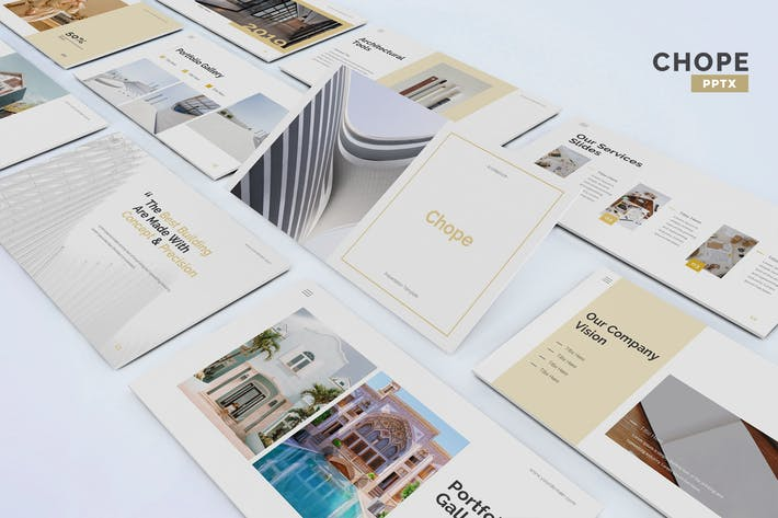 Thumbnail for Chope - Architecture Powerpoint Template