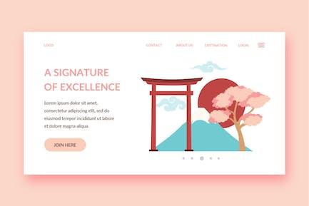 japan landing page template