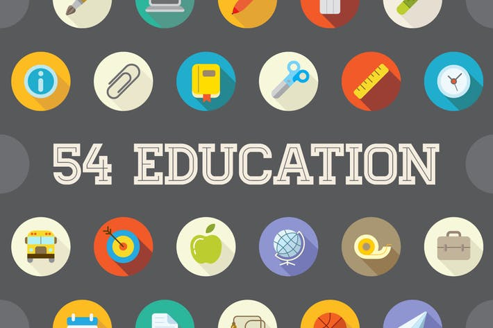 Thumbnail for 54 Education Flat Vector