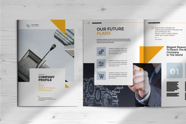 Thumbnail for Company Profile Template