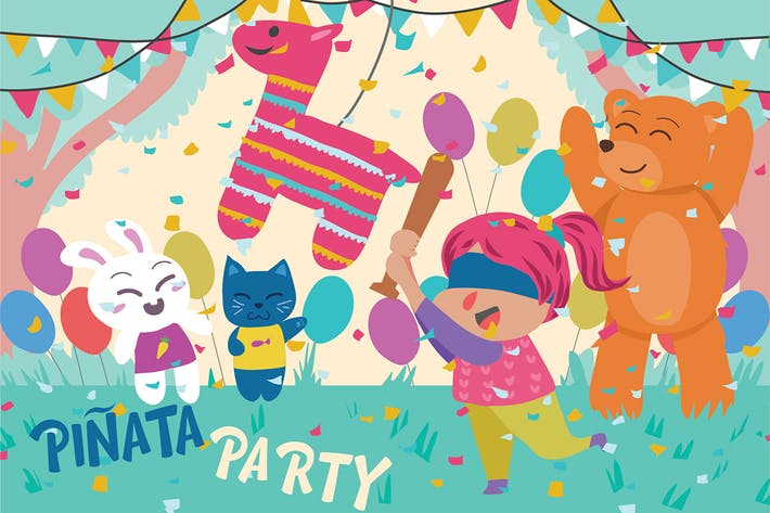 Thumbnail for Pinata Party - Vektor illustration
