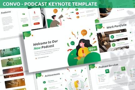 Convo - Podcast Keynote Template