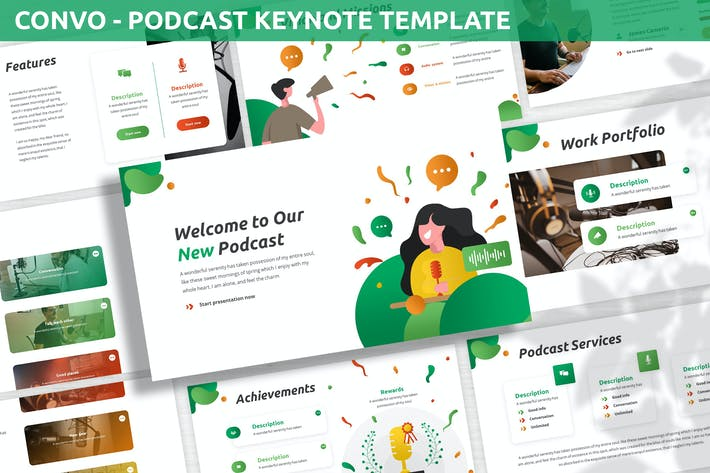 Thumbnail for Convo - Podcast Keynote Template