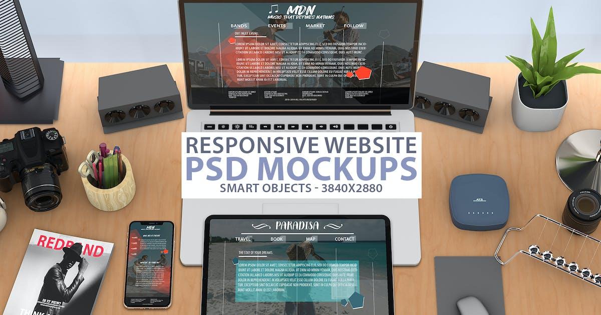 Download Responsive Website PSD Mock-up by Abdelrahman_El-masry