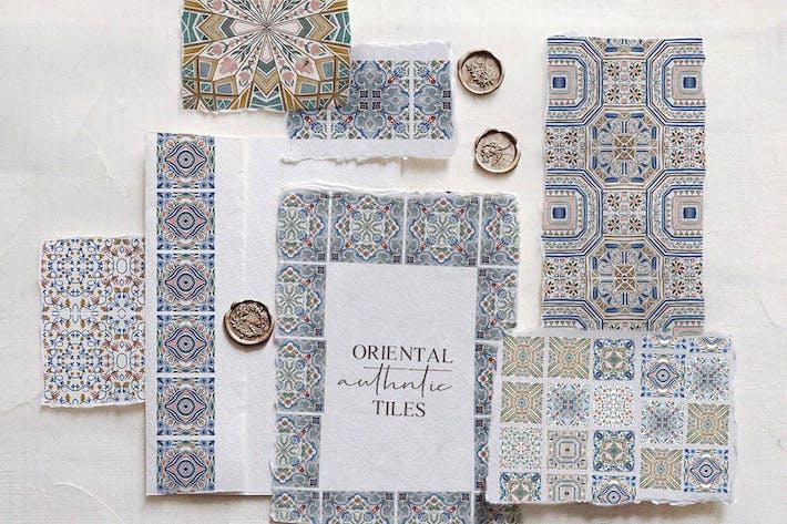 Thumbnail for Tuiles authentiques orientales - ensemble aquarelle