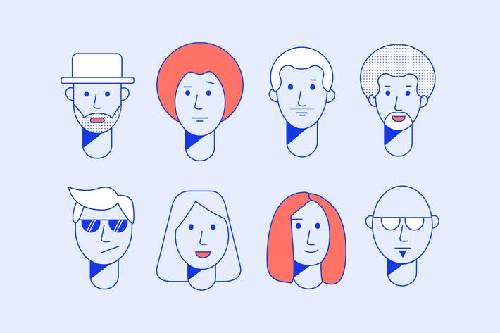 Thumbnail for Neon Faces Doodles