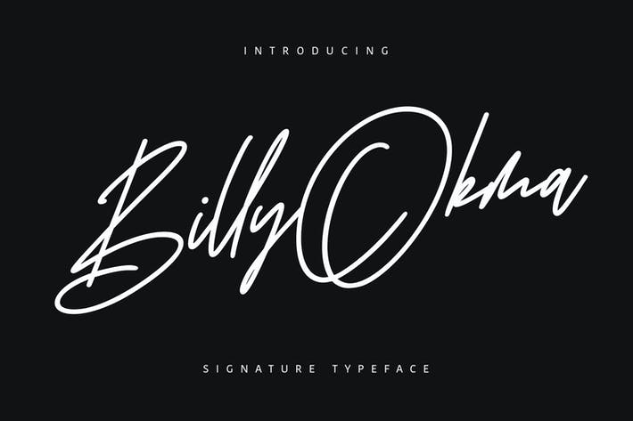 Thumbnail for Billy Okma Signature Font