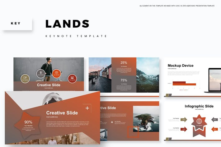 Thumbnail for Lands - Keynote Template