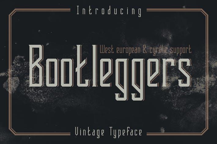 Thumbnail for Bootleggers font