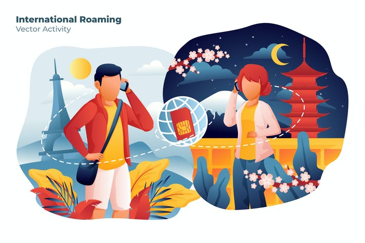 Thumbnail for International Roaming - Vector Illustration