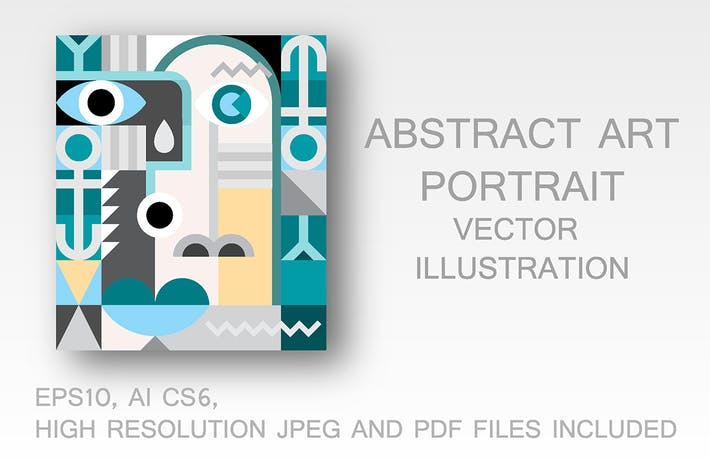 Thumbnail for Abstract Art Portrait vector illustration