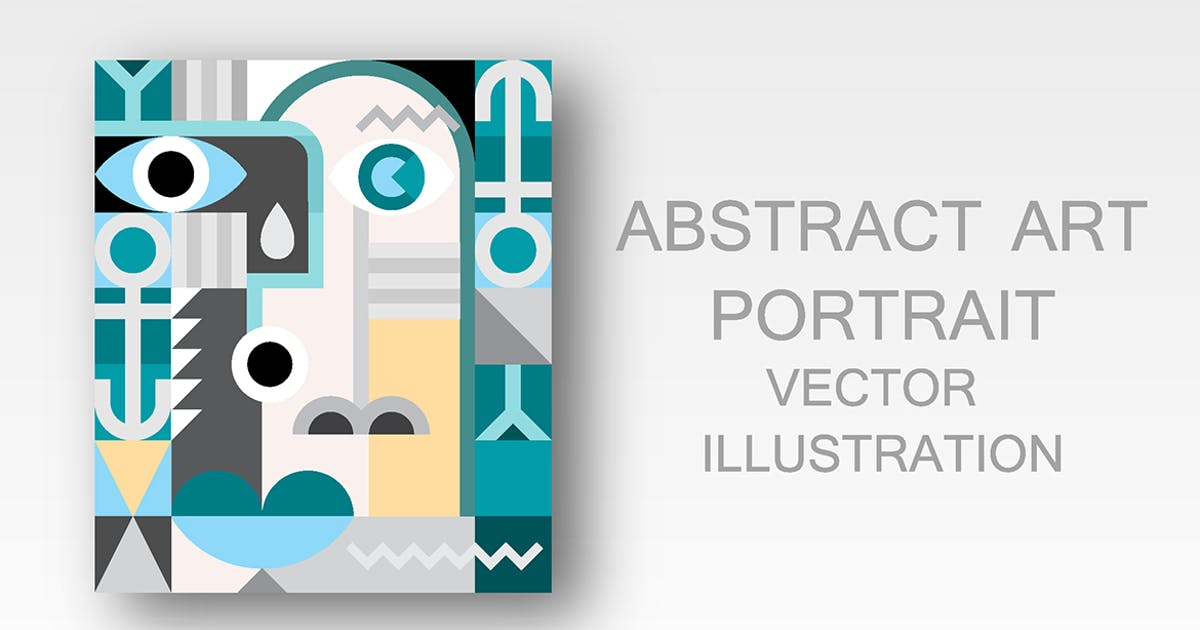 Download Abstract Art Portrait vector illustration by danjazzia