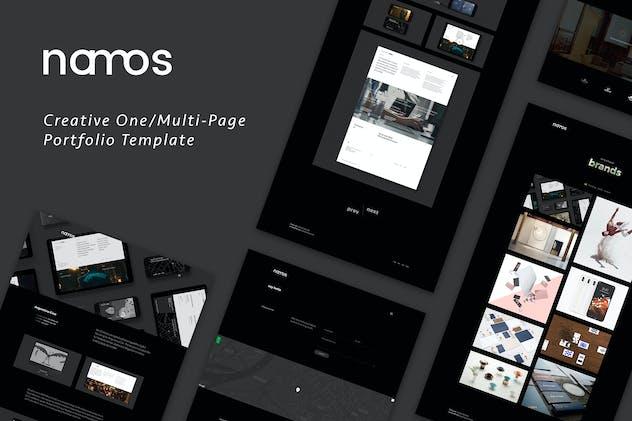 Namos - Creative One/Multi-Page Portfolio Template