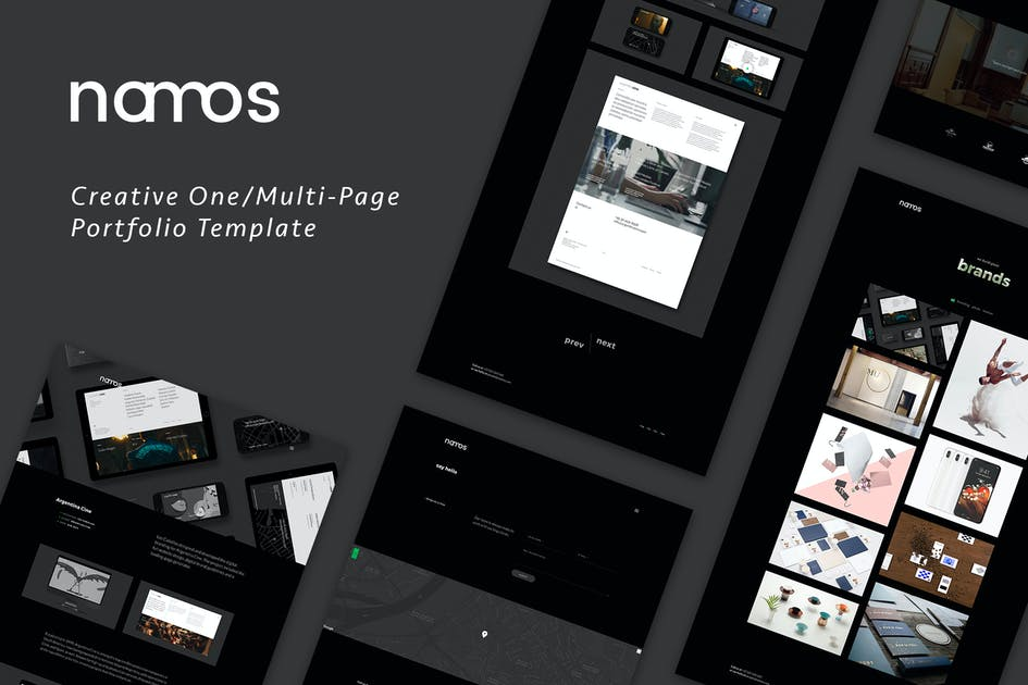 Download Namos - Creative One/Multi-Page Portfolio Template by IG_design