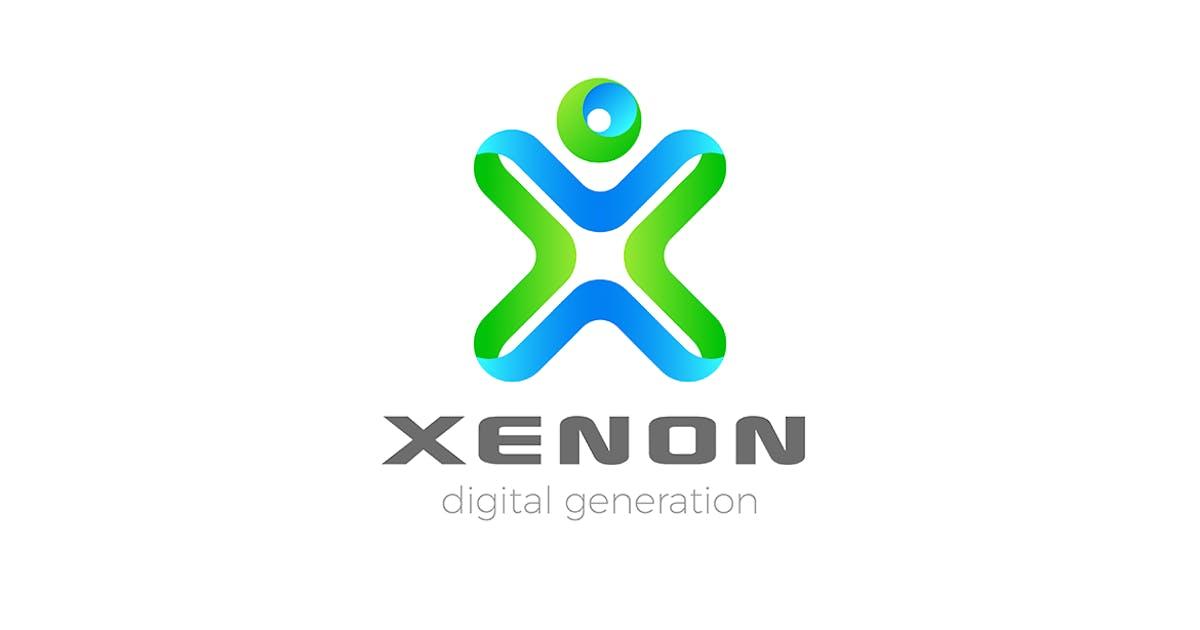 Download Logo Man as Letter X ribbon style by Sentavio
