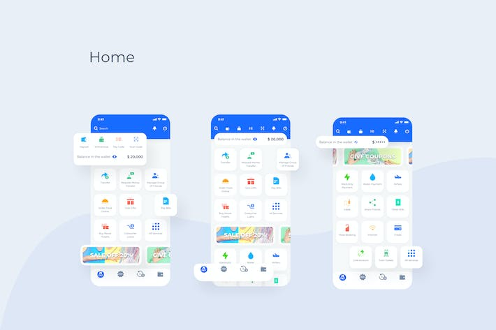 Thumbnail for Home - Wallet Mobile UI - N