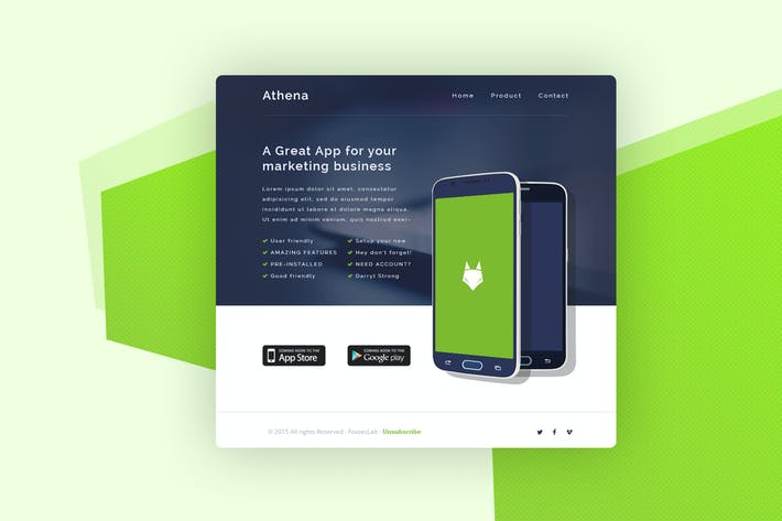Thumbnail for Email Newsletter - Athena