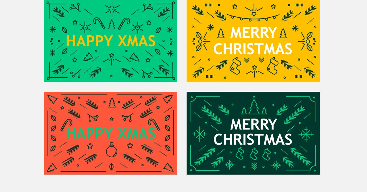Christmas Minimal Badges by Jumsoft
