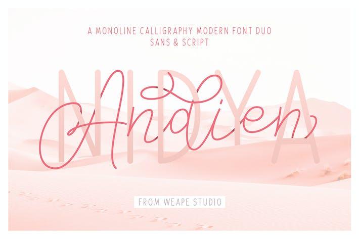 Thumbnail for Andien Nidya - Script & Sans