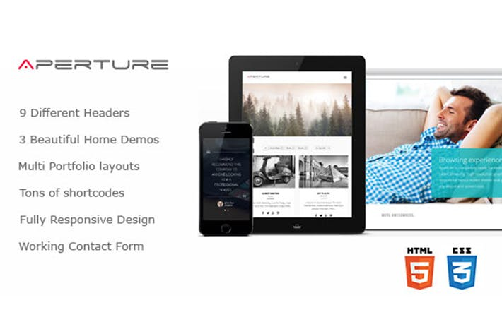 Thumbnail for Aperture - Creative Business HTML Theme