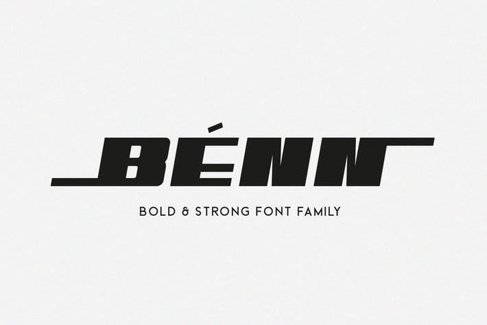 Thumbnail for Benn - Bold and Strong Font Family
