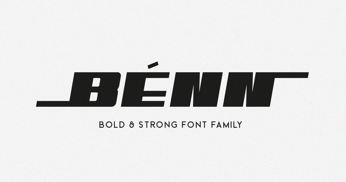 Download Benn - Bold and Strong Font Family by factory738