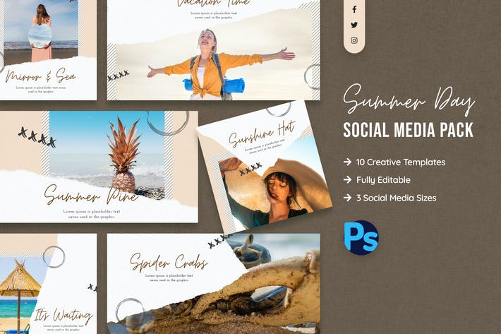 Thumbnail for Summer Social Media Template