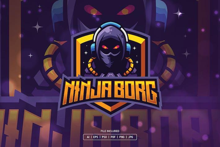 Thumbnail for Ninja cyborg gaming esport logo