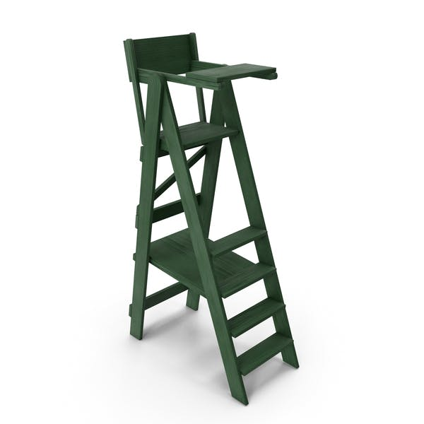Thumbnail for Tennis Umpire Chair Green and White Classic Style