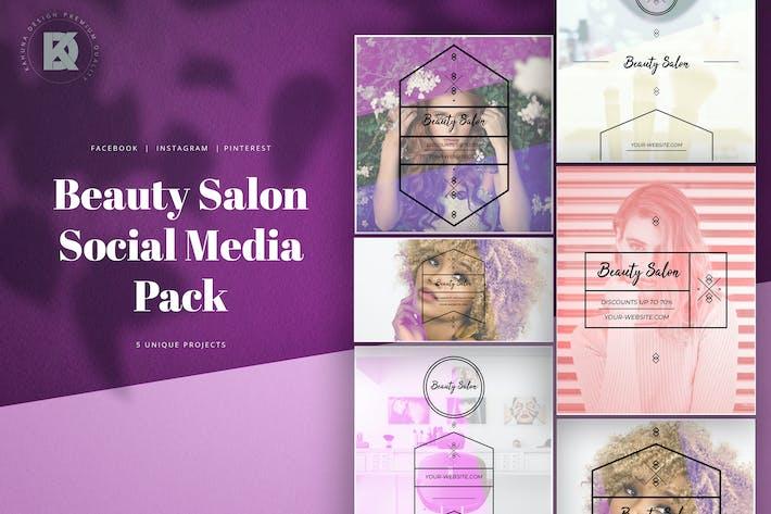 Thumbnail for Beauty Salon Social Media Pack