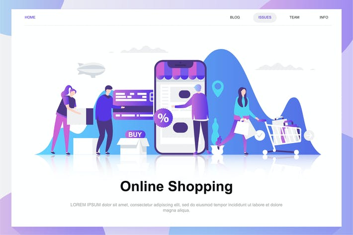 Thumbnail for Online Shopping Flat Concept