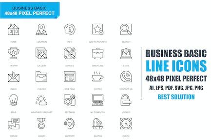 Simple Set Basic Line Icons