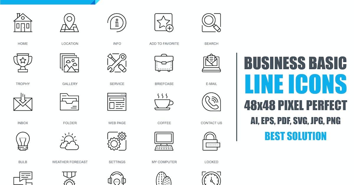 Download Simple Set Basic Line Icons by alexdndz