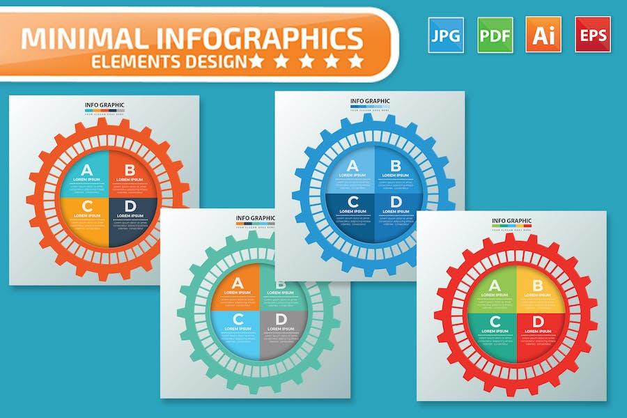 Gear Infographics design