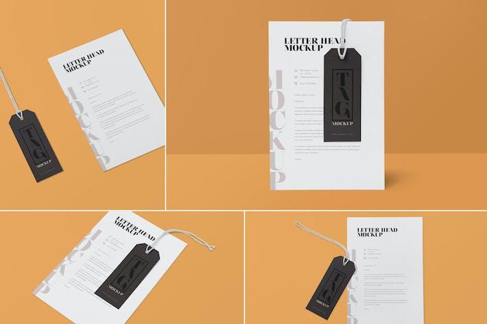 Thumbnail for Maquettes ette de 4 étiquettes et papier à en-tête
