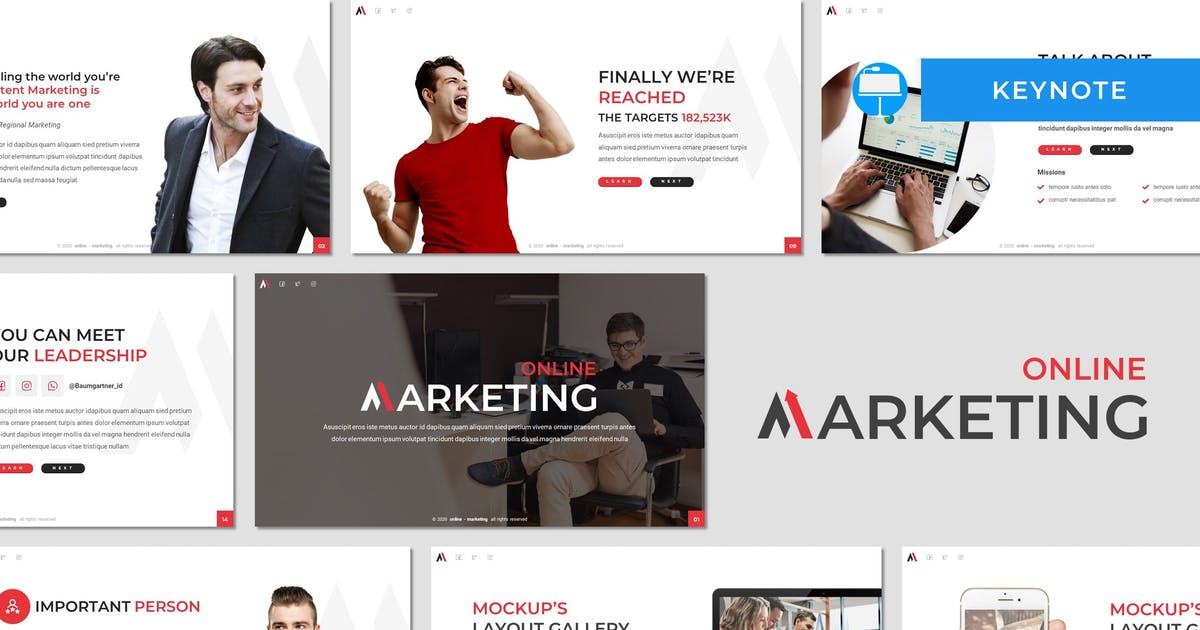 Download Marketing - Business Keynote Template by invisualstudio