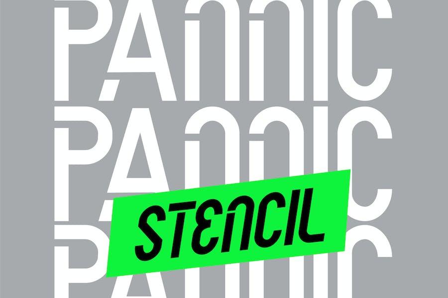 PANNIC - Sans Techno Modern Urban Font
