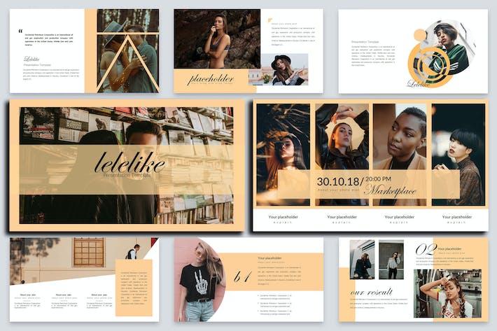 Thumbnail for Lelelike Lookbook Google Slides Presentation