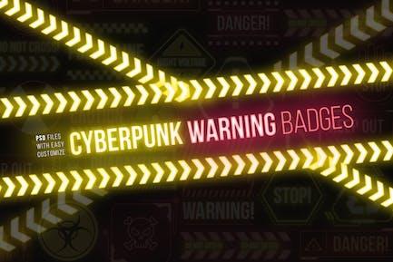 Cyberpunk-Warnzeichen