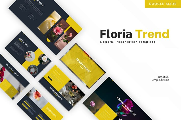 Thumbnail for Floria Trend - Google Slides Template