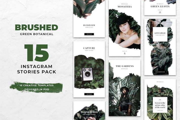 Thumbnail for Botanical Brush Instagram Stories
